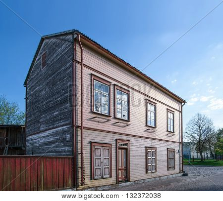 Old Wooden House And A Fence In Ventspils Of Latvia