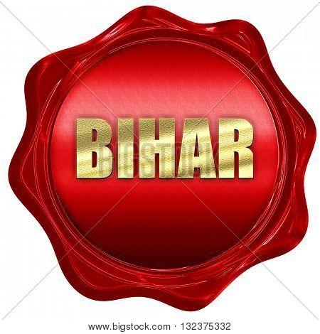 bihar, 3D rendering, a red wax seal