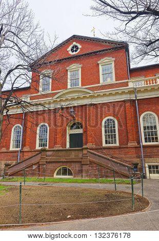 Harvard Hall In Harvard Yard Of Harvard University In Cambridge