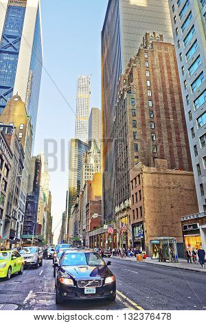 Sixth Avenue And West 57Th Street In Midtown Manhattan
