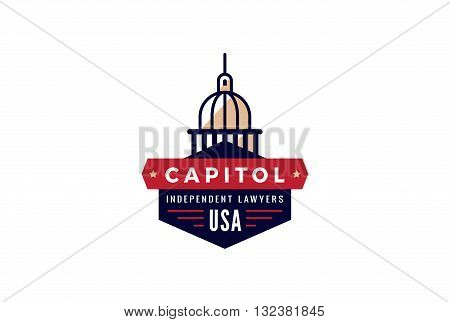 Capitol Logo Lawyer vintage retro design Creative Government