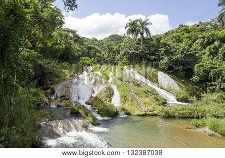 Waterfalls in the park el Nicho, Province Cienfuegos, Cuba