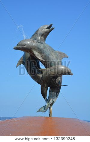 PUERTO VALLARTA MEXICO MAY 07 2016: Friendship Fountain