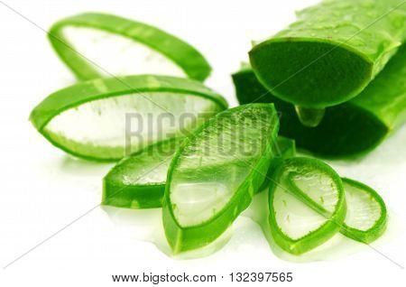 Slice Aloe Vera.
