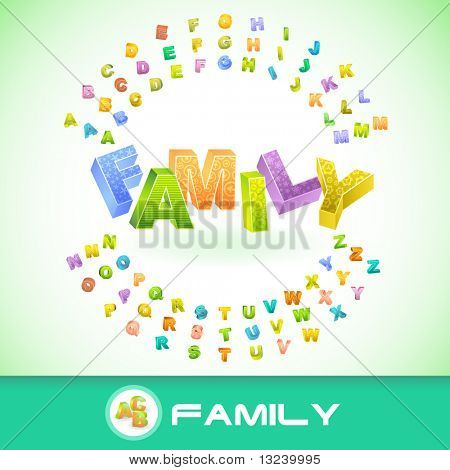 FAMILY. Vector 3d illustration.