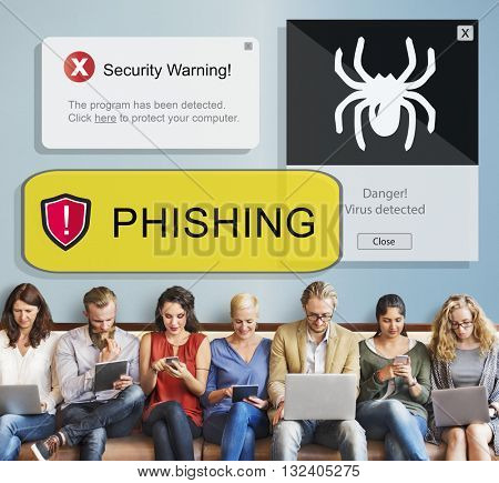 Phishing Hacking Account Information Online Concept