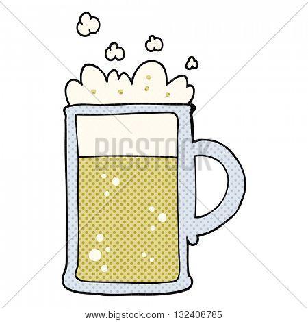 freehand drawn cartoon tankard of beer