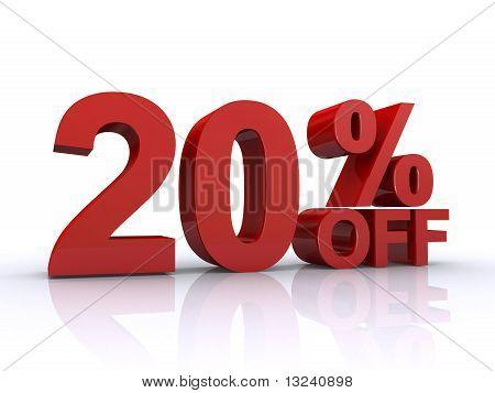 20 Percent Off Discount