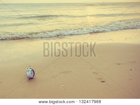 Image Of Sea And Clock