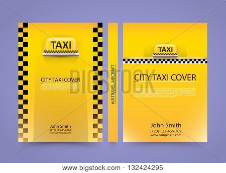 Taxi business card, Traffic cover background, A4 size paper