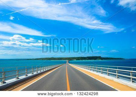 Irabu bridge Miyako Island in Okinawa japan