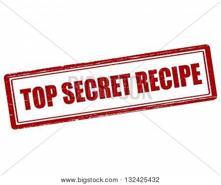 Rubber stamp with text top secret recipe inside vector illustration