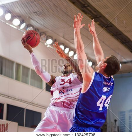 Bc Krasnye Krylia Guard Bracey Wright (34) Throws The Ball