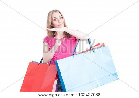 Attractive Woman Doing Timeout Or Pause Gesture