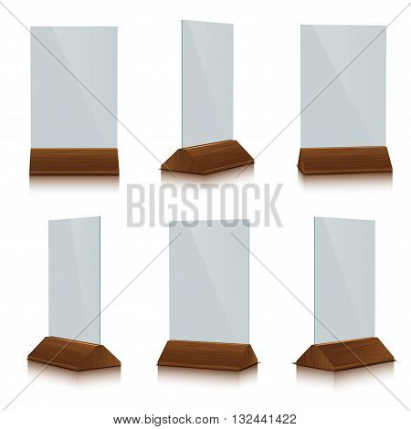 Table Tent isolated on white background, vector illustration.