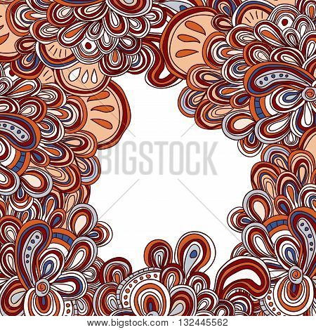 vector doodle pattern in Moroccan style. Free form dooles.