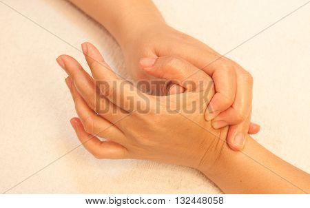 reflexology Hand massage spa hand treatment Thailand
