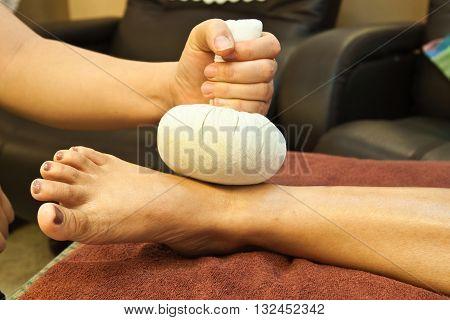 reflexology foot massage spa foot treatment thailand poster