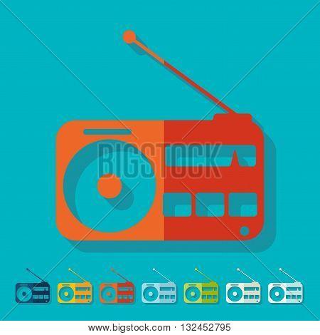 It is a illustration Flat design: radio