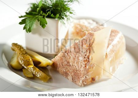 Meat Aspic with Herbs and Horseradish