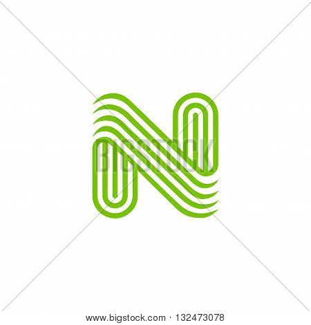 Creative Letter N Logo design vector template Linear