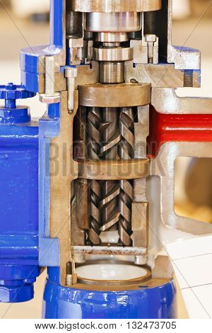 Cross Section Of Engine Part