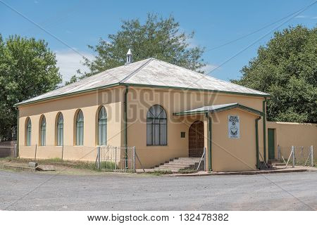 STEYNSBURG SOUTH AFRICA - FEBRUARY 16 2016: The Afrikaans Protestant Church in Steynsburg a small town in the Eastern Cape Province