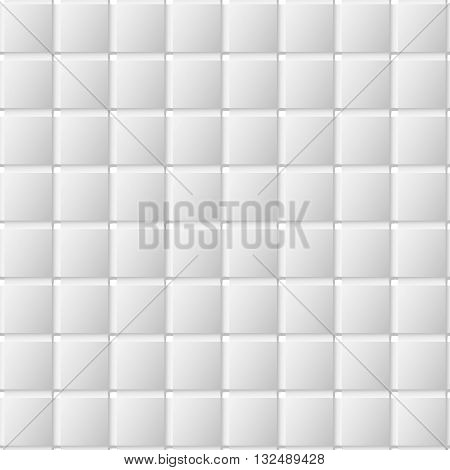 Connected squares of paper with deformed petals cut on the edges and shadows in the cutout. Seamless vector texture. Seamless pattern. Vector geometric background.