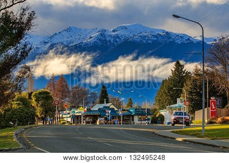 TE ANAU NEW ZEALAND-AUGUST 29 : Te Anau is important base town of traveling in the Southland region of the South Island of New Zealand on august29, 2015 in Te Anau New Zealand