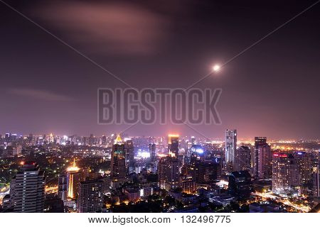 urban city view of cityscape on night viewlanscape photo - can use to montage your product or poster
