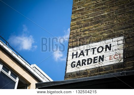 Hatton Garden jewellery quarter in central London