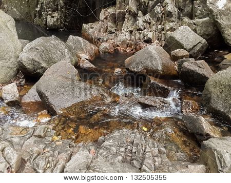 stone and brook in waterfall country Nakhon nayok Thailand