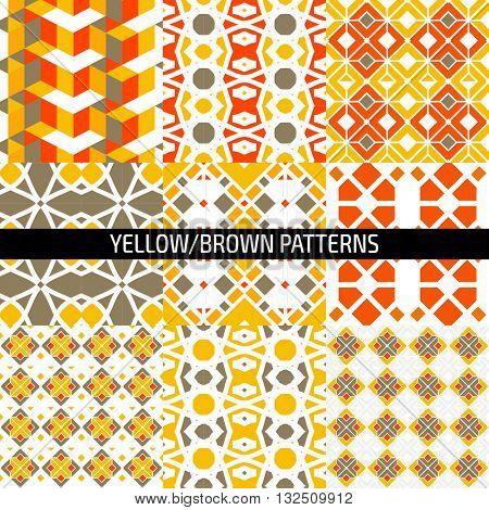 Ethnic islamic arabic morrocan pattern set. Islamic arabic background. Islamic geometry. Seamless vector in arabic style.
