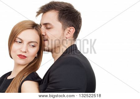 Pair of young lovers enjoying a moment of love