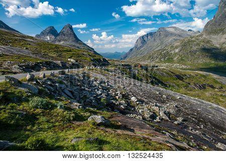 Way to Trollstigen (Stairway of the Troll). Trollstigen is the most popular attraction road in Norway.