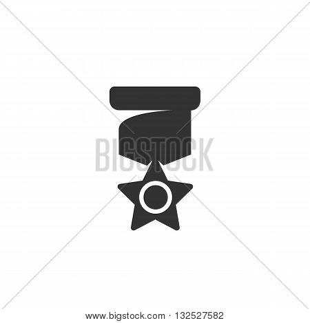Medal icon on white background. Medal logo element for template. Modern vector pictogram for web graphics. Flat design style. Vector illustration. - stock vector