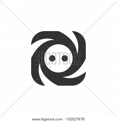 Socket icon on white background. Socket logo element for template. Modern vector pictogram for web graphics. Flat design style. Vector illustration. - stock vector