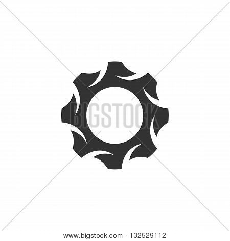Gear icon on white background. Gear vector logo. Flat design style. Modern vector pictogram for web graphics. - stock vector