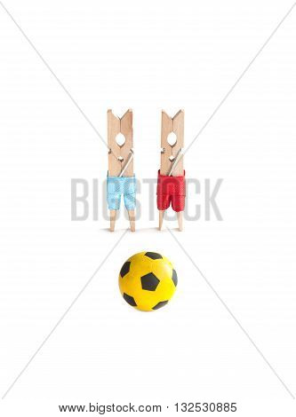 France football championship advertising poster template. Soccer captain players with yellow ball. White background