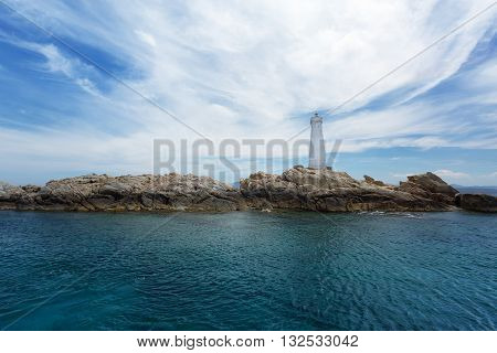 Lighthouse in Northern Sardinia (Maddalena and Caprera Range Front)