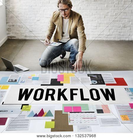 Work flow Efficient Business Process Procedure Concept
