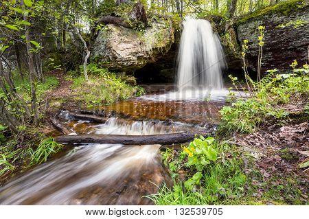 Scott Falls near Au Train Michigan in the Upper Peninsula of Michigan.