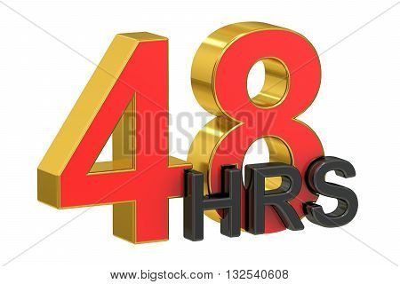 48hrs concept 3D rendering isolated on white background
