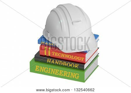 Engineering concept 3D rendering isolated on white background