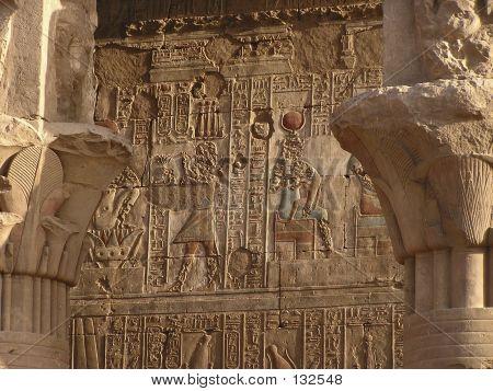 Hieroglyphics On Edfu Temple