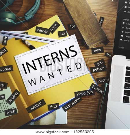 Interns Wanted Internship Training Trainee Concept