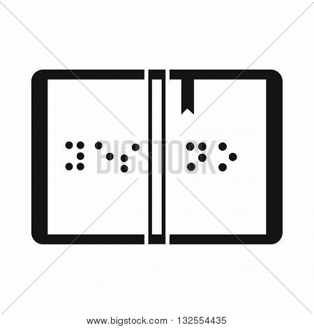 Braille icon in simple style isolated on white background