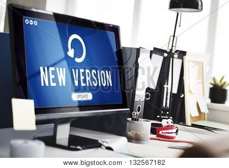 Update Upgrade Installation Latest Updating Concept