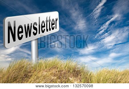 newsletter latest news bulletin hot breaking and latest news icon 3D illustration