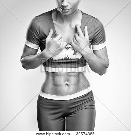 Fitness Athletic Young Woman